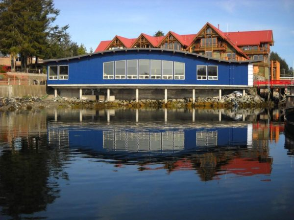 Picture of the Ucluelet Aquarium taken from the water